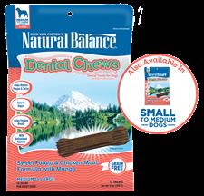 Sweet Potato & Chicken Meal Formula with Mango Dental Chew, Regular