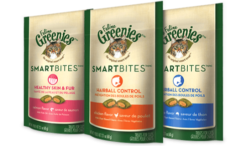 Feline Greenies Smartbites Healthy Skin & Fur - Salmon Flavored, 2.1oz