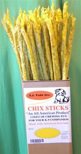 """J.J Fuds Chix Sticks Rawhide Beef/Chicken 36"""""""