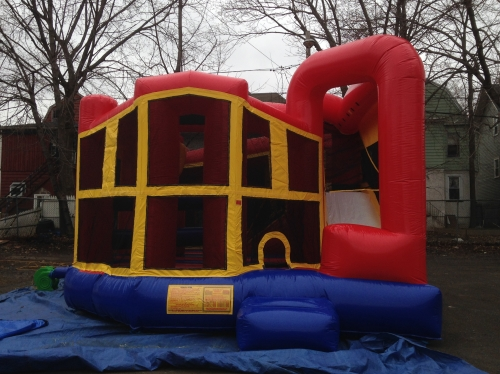 INFLATABLE 5 IN 1 COMBO WITH SLIDE