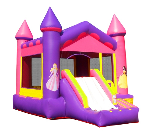 Pink Castle Combo Bounce House