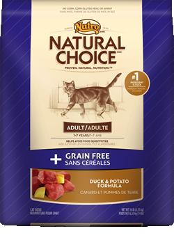 Nutro Natural choice Grain free Cat Duck/Potato 14#