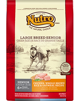NUTRO NAT CHOICE LARGE BREED SENIOR DOG CHICKEN/BROWN RICE/OATMEAL 30#