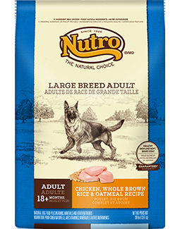Nutro Natural Choice Adult Dog - Large Breed - Chicken, Brown Rice, Oatmeal - 30 lb.