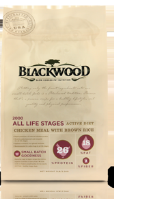 Blackwood 2000 Active Diet Chicken Meal With Brown Rice Dog Food