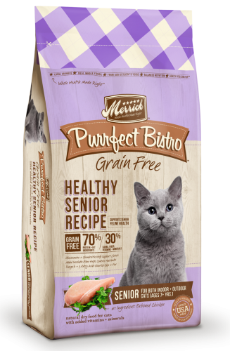 Purrfect Bistro Grain Free Healthy Senior Recipe 4lb Cat