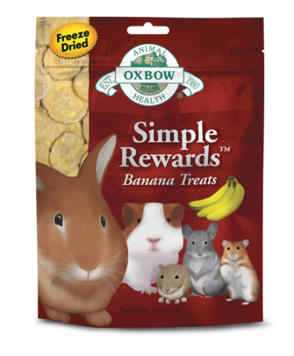 Oxbow Simple Rewards Banana Treat 8/1.0 oz