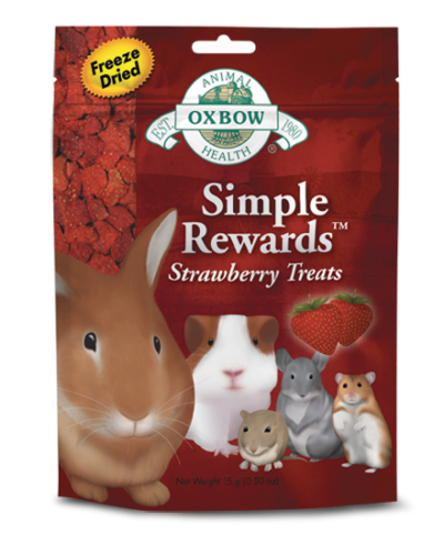 Oxbow Simple Rewards Strawberry Treat 8/.5 oz.