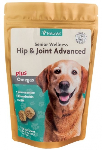 NaturVet's Senior Hip & Joint Soft Chew 120 CT