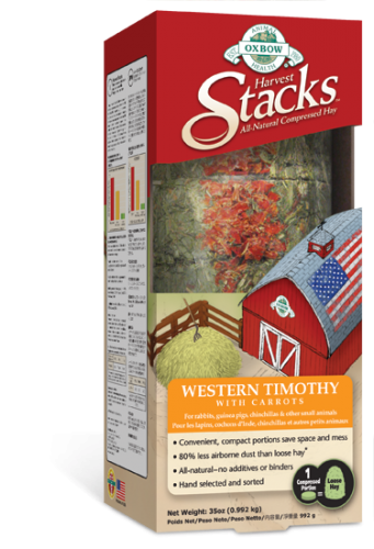 Oxbow Harvest Stacks Western Timothy with Carrot 6/35OZ