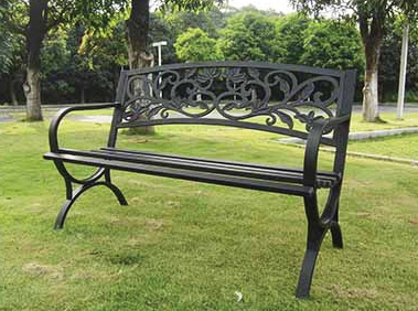 Scroll Back Park Bench