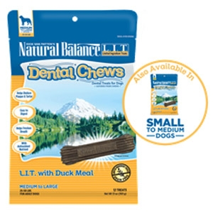 Natural Balance® Dental Chews L.I.T. with Duck Meal Formula Treats