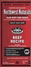 Northwest Naturals Frozen Raw Beef Dinner Bars For Dogs Bulk 25 lb.
