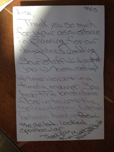 Kim Curry's Thank You Note