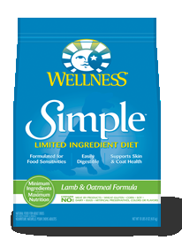 Wellness Simple Solutions Rice & Lamb Formula Dry Dog 26 lbs