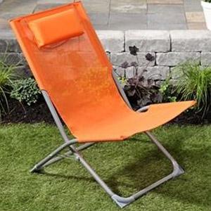 Orange Folding Beach Chair