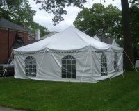 Installed Canopy Tent 20′ x 20′
