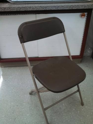 Brown Samsonite folding chair