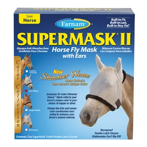 SuperMask® II Classic Horse Fly Mask with Ears