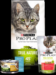 Purina® Pro Plan® TRUE NATURE® Cat Food and Treats