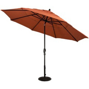 11' Auto-tilt Bronze Patio Umbrella