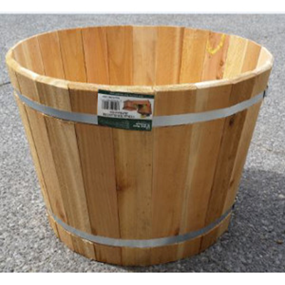 Cedar Half Barrel Planter