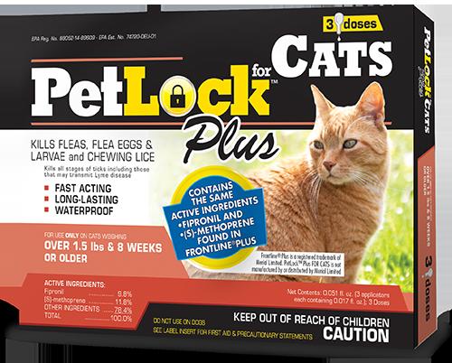 PetLock™ Plus Flea and Tick Treatment for Cats over 1.5 lbs