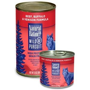 Wild Pursuit Beef, Buffalo, Venison Canned Dog Formula