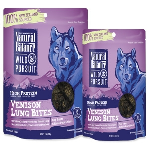 Wild Pursuit Venison Lung Bites Dog Treats