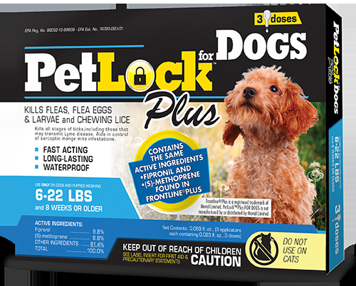 PetLock™ Plus Flea and Tick Treatment for Dogs 6-22 lbs
