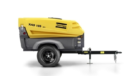Atlas Copco's Series XAS-97/ 185 CFM portable compressor