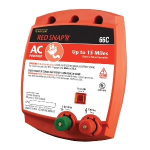 Red Snap'r® 15 Mile AC Solid State Fence Charger