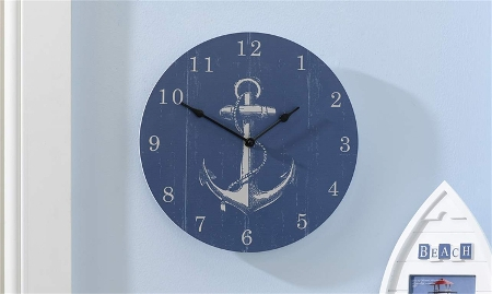 MDF Round Nautical Design Wall Clock