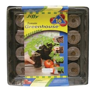 Jiffy® 16 Pellet Tomato Starter Greenhouse