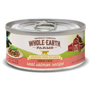 Whole Earth Farms Grain Free Real Salmon Recipe Canned Cat Food, 5 oz.