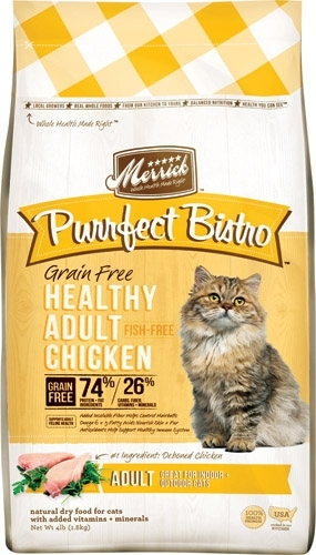 Purrfect Bistro Grain Free Real Chicken Recipe Cat Food, 4 lbs.