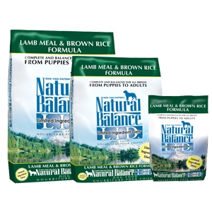 Natural Balance Diet Lamb and Brown Rice Dry Dog Food