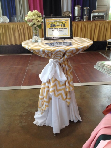 Gold Chevron Linens