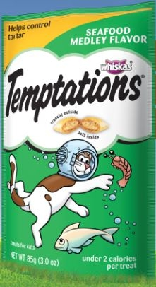 Mars Whiskas Temptations Seafood Medley 12/3Oz Pouch