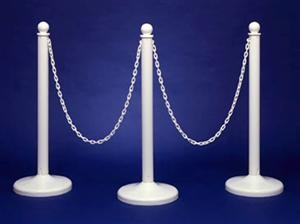 White Pastic Stanchions