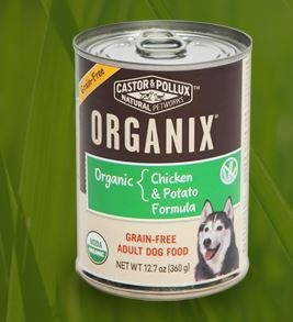 Organix Grain Free Chicken & Potato Wet Dog Food