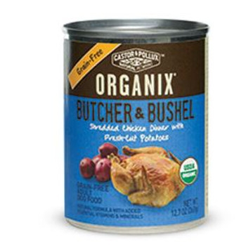 Organix Butcher & Bushel Organic Shredded Chicken Dinner Wet Dog Food, 12.7 oz can