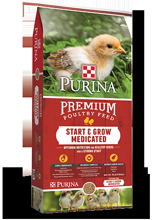 Purina Start & Grow Medicated Chicken Feed