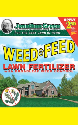 Weed & Feed Lawn Fertilizer 21-0-3 - Apply 2nd
