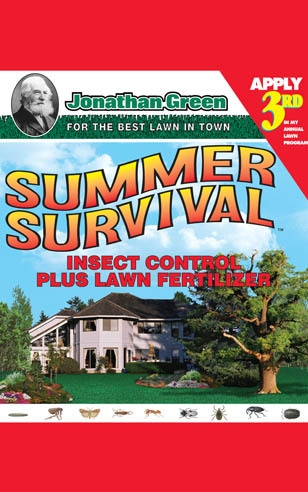 Summer Survival Insect Control plus Lawn Fertilizer 13-0-3 - Apply 3rd