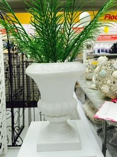 White Flower Urn
