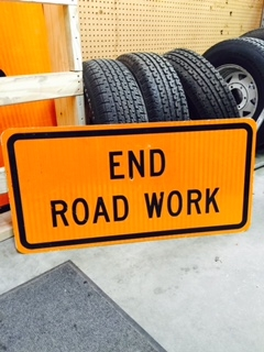 End Road Work Traffic Sign