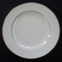 """Gold Band: 9"""" Lunch Plate"""