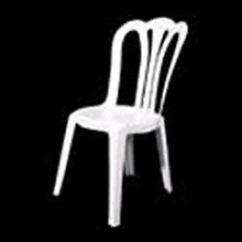 Chair: White resin bistro