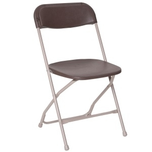Brown Plastic Dining Chair